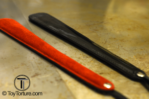 The two other Varieties of this toy: Red Suede and black Laquer for extra sting