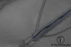 Detail of the Chest Zipper and the Stitching