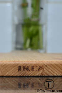 The IKEA Logo can easily be erased by sanding