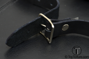 Detail of the Buckle with the Oil Tanned Leather Strap