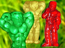 Gummi Baers in Shape of Naked Body Builders