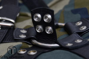 Detail of the Snap Buttons on the Middle Strap