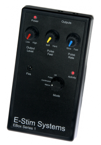 The Front of the E-Stim System Series One