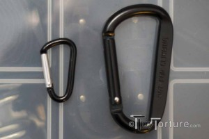 Two Versions of Uncertified Aluminum Carabiners