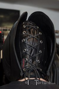 Detail of the Lacing Behind the Rear Zipper