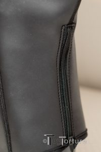 Detail of the Back Zipper for Easier Access
