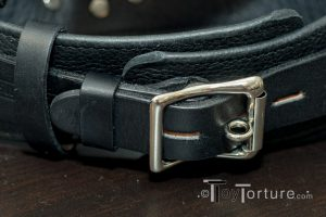 Detail of the Locking Roller Buckle on the Collar
