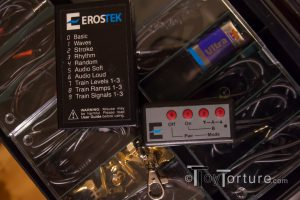 The ErosTek ET302R E-Stim Power Box along with the Remote Control