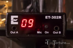 Detail of the Control Panel of the ErosTek ET302R