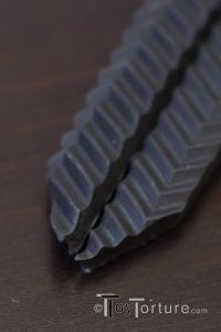 Detail of the Viper Paddle's Split Tongue